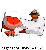 Orange Explorer Ranger Man In Geebee Stunt Aircraft Side View