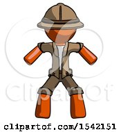 Orange Explorer Ranger Male Sumo Wrestling Power Pose
