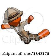 Orange Explorer Ranger Man Skydiving Or Falling To Death