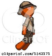 Orange Explorer Ranger Man Floating Through Air Right