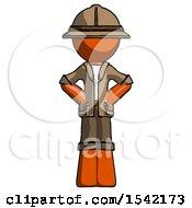 Orange Explorer Ranger Man Hands On Hips