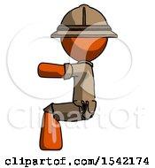 Orange Explorer Ranger Man Sitting Or Driving Position
