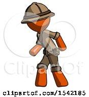 Orange Explorer Ranger Man Suspense Action Pose Facing Left