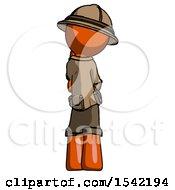 Orange Explorer Ranger Man Thinking Wondering Or Pondering Rear View