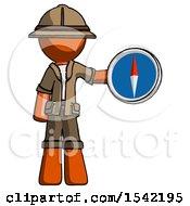 Orange Explorer Ranger Man Holding A Large Compass
