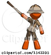 Orange Explorer Ranger Man Bo Staff Pointing Up Pose