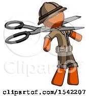 Orange Explorer Ranger Man Scissor Beheading Office Worker Execution
