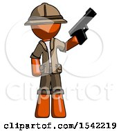 Orange Explorer Ranger Man Holding Handgun