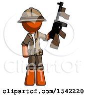 Orange Explorer Ranger Man Holding Tommygun