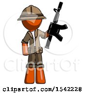 Orange Explorer Ranger Man Holding Automatic Gun
