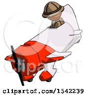 Orange Explorer Ranger Man In Geebee Stunt Plane Descending View