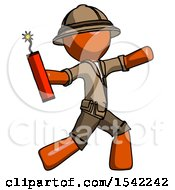 Orange Explorer Ranger Man Throwing Dynamite