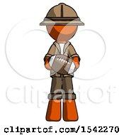 Orange Explorer Ranger Man Giving Football To You