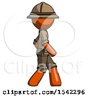 Orange Explorer Ranger Man Walking Right Side View