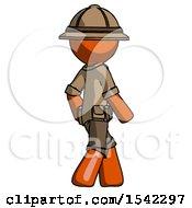 Orange Explorer Ranger Man Walking Away Direction Right View