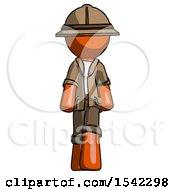 Orange Explorer Ranger Man Walking Front View
