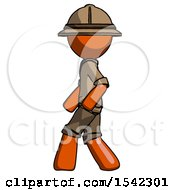 Orange Explorer Ranger Man Walking Left Side View