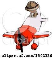 Orange Explorer Ranger Man In Geebee Stunt Plane Descending Front Angle View