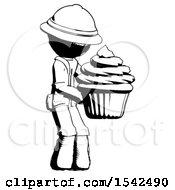 Ink Explorer Ranger Man Holding Large Cupcake Ready To Eat Or Serve