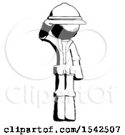 Ink Explorer Ranger Man Soldier Salute Pose