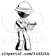 Ink Explorer Ranger Man Tommy Gun Gangster Shooting Pose