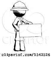 Ink Explorer Ranger Man Presenting Large Envelope
