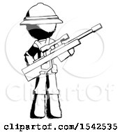 Ink Explorer Ranger Man Holding Sniper Rifle Gun
