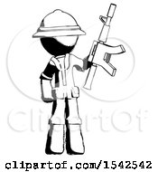 Ink Explorer Ranger Man Holding Automatic Gun