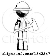 Ink Explorer Ranger Man Holding Red Fire Fighters Ax
