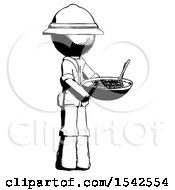 Ink Explorer Ranger Man Holding Noodles Offering To Viewer
