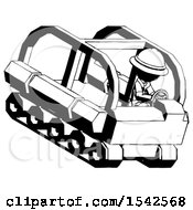 Ink Explorer Ranger Man Driving Amphibious Tracked Vehicle Top Angle View