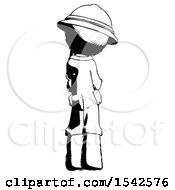 Ink Explorer Ranger Man Thinking Wondering Or Pondering Rear View
