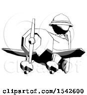 Ink Explorer Ranger Man Flying In Geebee Stunt Plane Viewed From Below