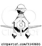 Ink Explorer Ranger Man In Geebee Stunt Plane Front View