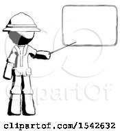 Ink Explorer Ranger Man Giving Presentation In Front Of Dry Erase Board