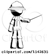 Ink Explorer Ranger Man Teacher Or Conductor With Stick Or Baton Directing