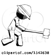 Ink Explorer Ranger Man Hitting With Sledgehammer Or Smashing Something