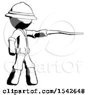 Ink Explorer Ranger Man Pointing With Hiking Stick