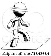 Ink Explorer Ranger Man On Postage Envelope Surfing