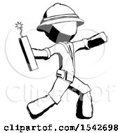 Ink Explorer Ranger Man Throwing Dynamite