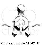 Ink Design Mascot Man In Geebee Stunt Plane Front View