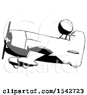 Ink Design Mascot Man In Geebee Stunt Aircraft Side View