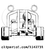 Ink Design Mascot Man Riding Sports Buggy Front View