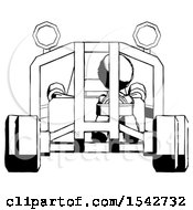 Ink Design Mascot Woman Riding Sports Buggy Front View