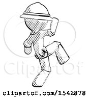 Halftone Explorer Ranger Man Kick Pose Start
