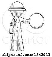 Halftone Explorer Ranger Man Holding A Large Compass