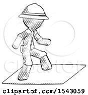 Halftone Explorer Ranger Man On Postage Envelope Surfing