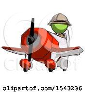 Green Explorer Ranger Man Flying In Geebee Stunt Plane Viewed From Below