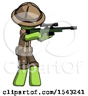 Green Explorer Ranger Man Shooting Sniper Rifle