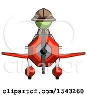 Green Explorer Ranger Man In Geebee Stunt Plane Front View